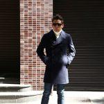 Sealup(シーラップ) 【GENOVA /// ジェノバ】 50002 7591 01 メルトンウール サーモアライニング ロングPコート Pコート ロング ピーコート NAVY (ネイビー・01) MADE IN ITALY(イタリア製) 2017 秋冬新作