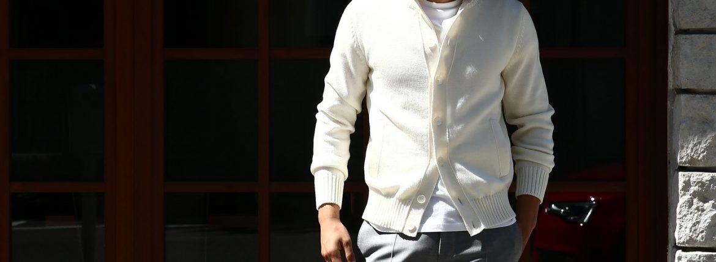 【ZANONE / ザノーネ】 CHIOTO KYOTO (キョウト キョート) 810740 z0229 (ミドルゲージ ニット ジャケット) OFF WHITE (オフホワイト・Z3623) MADE IN ITALY(イタリア製) 2017 秋冬新作のイメージ