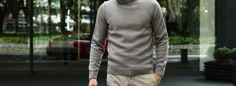 【ZANONE // ザノーネ】 Turtle Neck Sweater タートルネックセーター VIRGIN WOOL 100% ミドルゲージ ウールニット セーター GREGE (グレージュ・Z2873)  made in italy (イタリア製) 2017 秋冬新作のイメージ