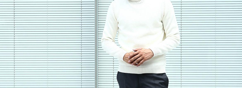 【ZANONE // ザノーネ】 Turtle Neck Sweater タートルネックセーター VIRGIN WOOL 100% ミドルゲージ ウールニット セーター OFF WHITE (オフホワイト・Z3623) made in italy (イタリア製) 2017 秋冬新作のイメージ