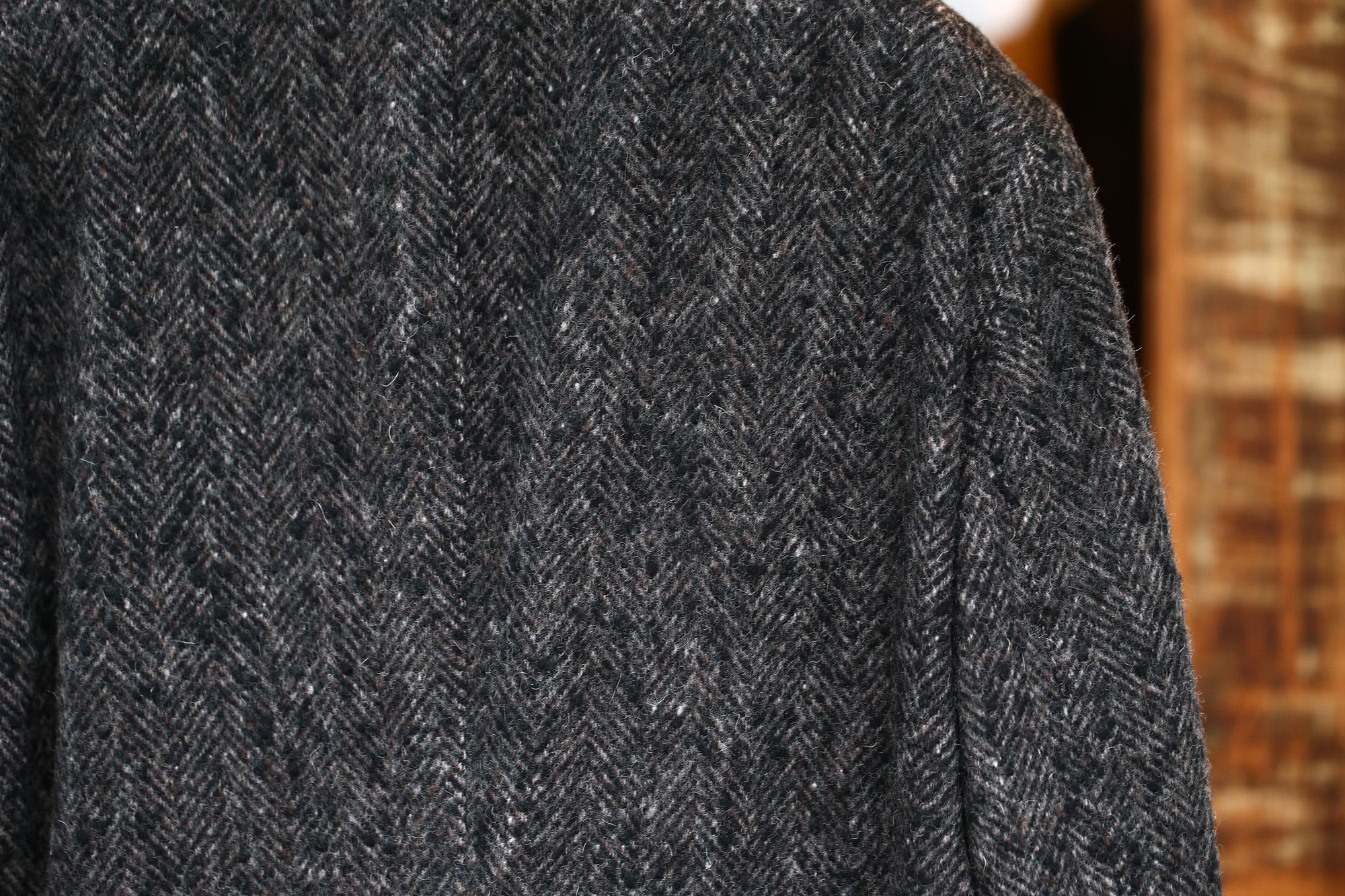 BOGLIOLI MILANO (ボリオリ ミラノ) CHESTER COURT (チェスターコート) ヘリンボーン ウール ツイード コート CHARCOAL (チャコール・09) Made in italy (イタリア製) 2017 秋冬新作 boglioli ボリオリ chestercourt 愛知 名古屋 Alto e Diritto アルト エ デリット