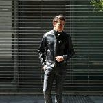 【CINQUANTA // チンクアンタ】 6621/1 STAND COLLAR RIDERS CAVALLO (スタンド カラー ジャケット) 【HORSE LEATHER / ホースレザー】 シングル ライダース ジャケット BLACK (ブラック・999) Made in italy (イタリア製) 2017 秋冬新作のイメージ