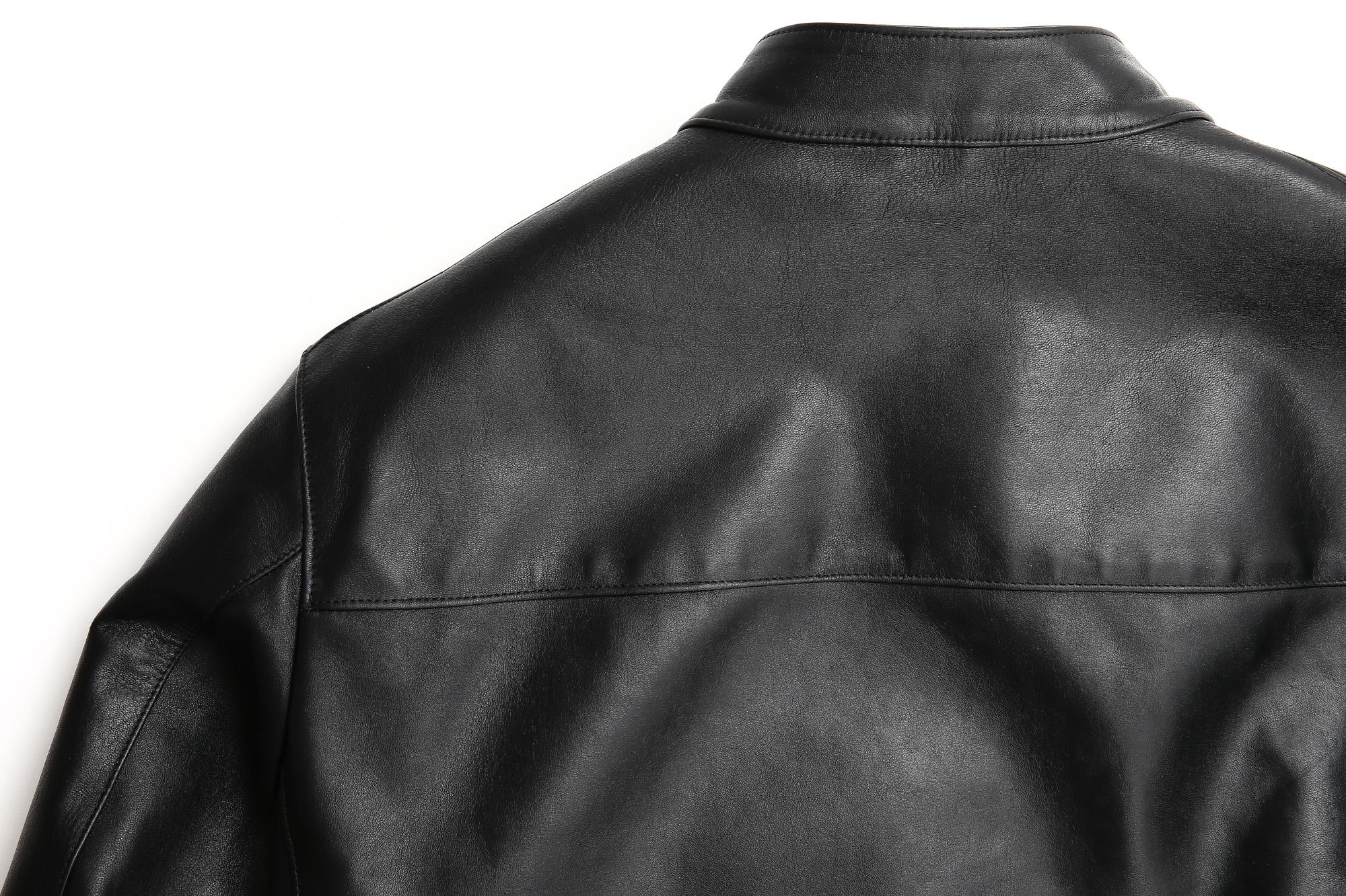 CINQUANTA(チンクアンタ) 6621/1 STAND COLLAR RIDERS CAVALLO (スタンドカラージャケット) HORSE LEATHER(ホースレザー) シングルライダースジャケット BLACK (ブラック・999) Made in italy (イタリア製) 【2 months 着用 Staff私物】cinquanta 愛知 名古屋 ZODIAC ゾディアック