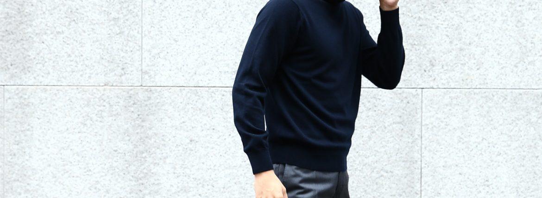 Cruciani (クルチアーニ) Cashmere Turtle Neck Sweater (カシミヤタートルネックセーター) Cashmere 100% 27ゲージ ハイゲージ カシミヤニット セーター NAVY (ネイビー・20147) made in italy (イタリア製) 2017 秋冬新作 cruciani クルチアーニ 愛知 カシミア 名古屋 タートルネック
