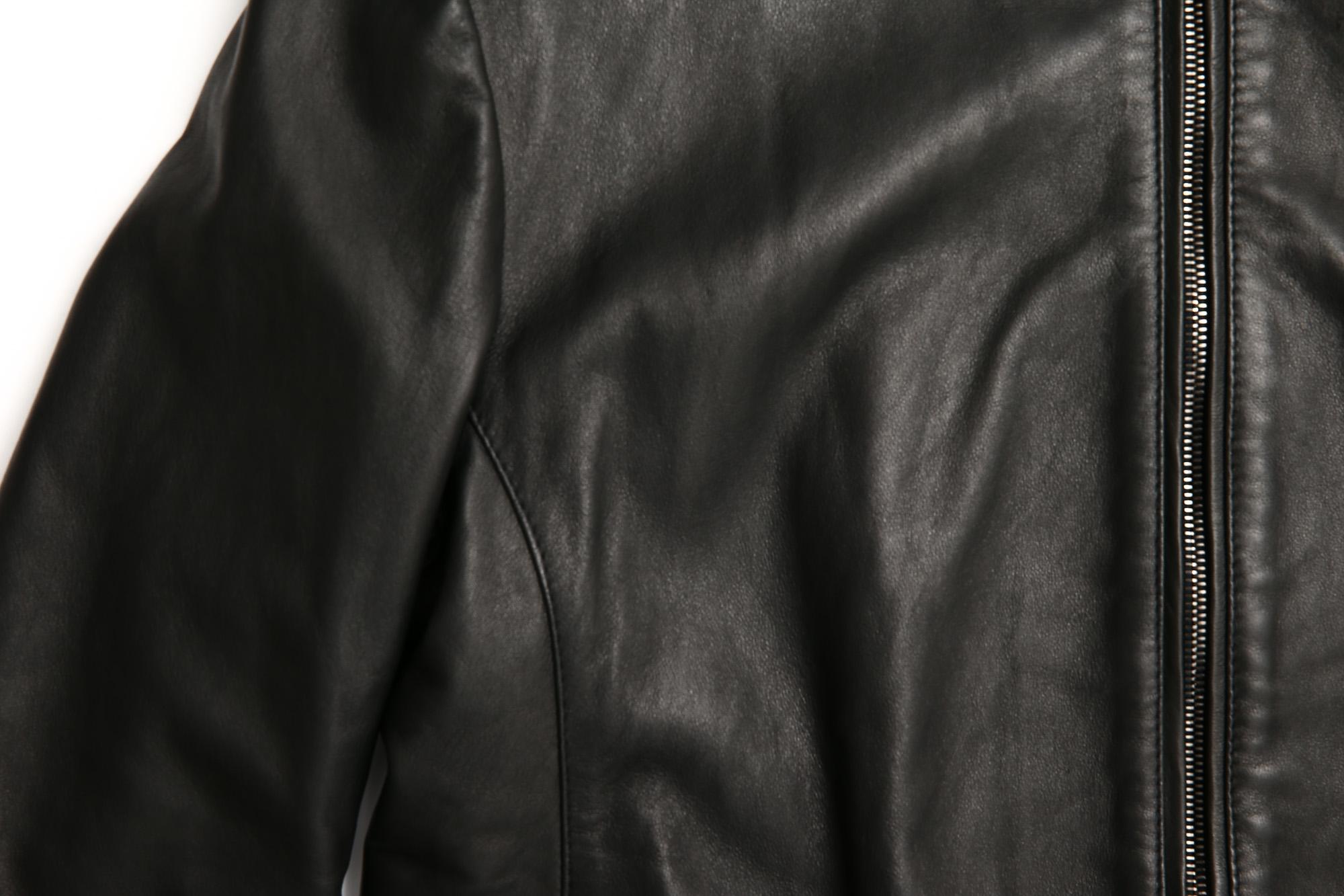 EMMETI (エンメティ) JURI (ユリ) Lambskin nappa シングルライダース レザージャケット NERO (ブラック) made in italy (イタリア製) 2018 春夏 emmeti 愛知 名古屋 ZODIAC ゾディアック emmeti andrea スタンドカラーブルゾン