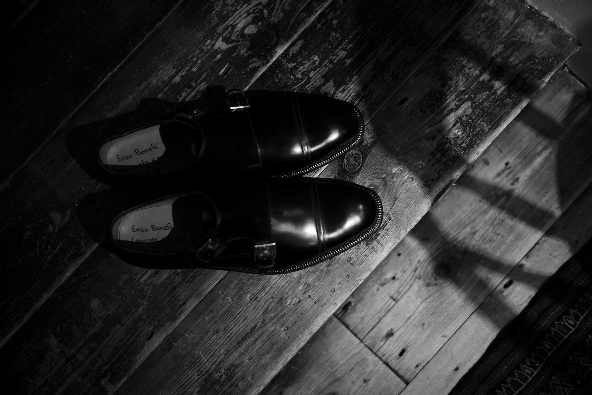 ENZO BONAFE(エンツォボナフェ) // EB-02 double monk strap shoes  NERO enzobonafe エンツォボナフェ 愛知 名古屋 Alto e Diritto アルト エ デリット ダブルモンクストラップシューズ ダブルモンク