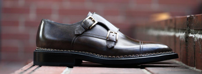 【ENZO BONAFE × HIROSHI TSUBOUCHI × Alto e Diritto /// エンツォボナフェ × ヒロシツボウチ × アルト エ デリット】 ART.EB-02 Double Monk Strap Shoes Bonaudo Museum Calf Leather ボナウド社 ミュージアムカーフ Norwegian Welted Process ノルベジェーゼ製法 ダブルモンクストラップシューズ PEWTER (ピューター) made in italy (イタリア製) 2017 秋冬新作 【Special Model】のイメージ
