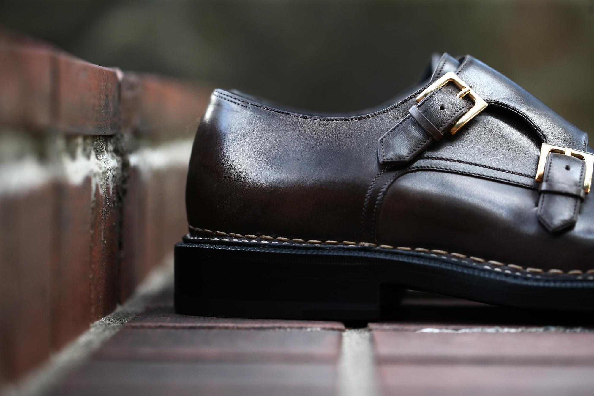 【ENZO BONAFE × HIROSHI TSUBOUCHI × ZODIAC /// エンツォボナフェ × ヒロシツボウチ × ゾディアック】 ART.EB-02 Double Monk Strap Shoes Bonaudo Museum Calf Leather ボナウド社 ミュージアムカーフ Norwegian Welted Process ノルベジェーゼ製法 ダブルモンクストラップシューズ PEWTER (ピューター) made in italy (イタリア製) 2017 秋冬新作 【Special Model】 enzobonafe hiroshitsubouchi エンツォボナフェ 愛知 名古屋 ZODIAC ゾディアック ダブルモンク