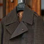 GABRIELE PASINI (ガブリエレ パジーニ) Pea coat (ピーコート) ウール ミドル丈 ダブル コート BROWN (ブラウン・438) Made in italy (イタリア製) 2017 秋冬新作のイメージ