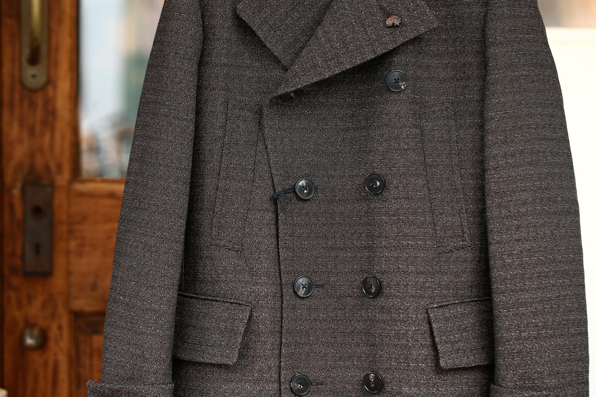 GABRIELE PASINI (ガブリエレ パジーニ) Pea coat (ピーコート) ウール ミドル丈 ダブル コート BROWN (ブラウン・438) Made in italy (イタリア製) 2017 秋冬新作 gabrielepasini カブリエレパジーニ Pコート 愛知 名古屋 Alto e Diritto アルト エ デリット