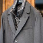 HERNO(ヘルノ) CA0045U Chester coat チェスターコート LANA DIAGONALE NYLON ULTRALIGHT 中綿入り ウールチェスターコート GRAY (グレー・9450) Made in italy (イタリア製) 2017 秋冬新作のイメージ