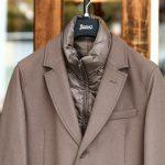 HERNO(ヘルノ) CA0045U Chester coat チェスターコート LANA DIAGONALE NYLON ULTRALIGHT 中綿入り ウールチェスターコート LIGHT BROWN (ライトブラウン・2700) Made in italy (イタリア製) 2017 秋冬新作のイメージ