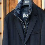 HERNO(ヘルノ) CA0058U Cashmere Chester coat カシミア チェスターコート PIACENZA ピアツェンツァ CASHMERE DROPGLIDE NYLON ULTRALIGHT 中綿入り カシミア チェスターコート NAVY (ネイビー・9200) Made in italy (イタリア製) 2017 秋冬新作のイメージ