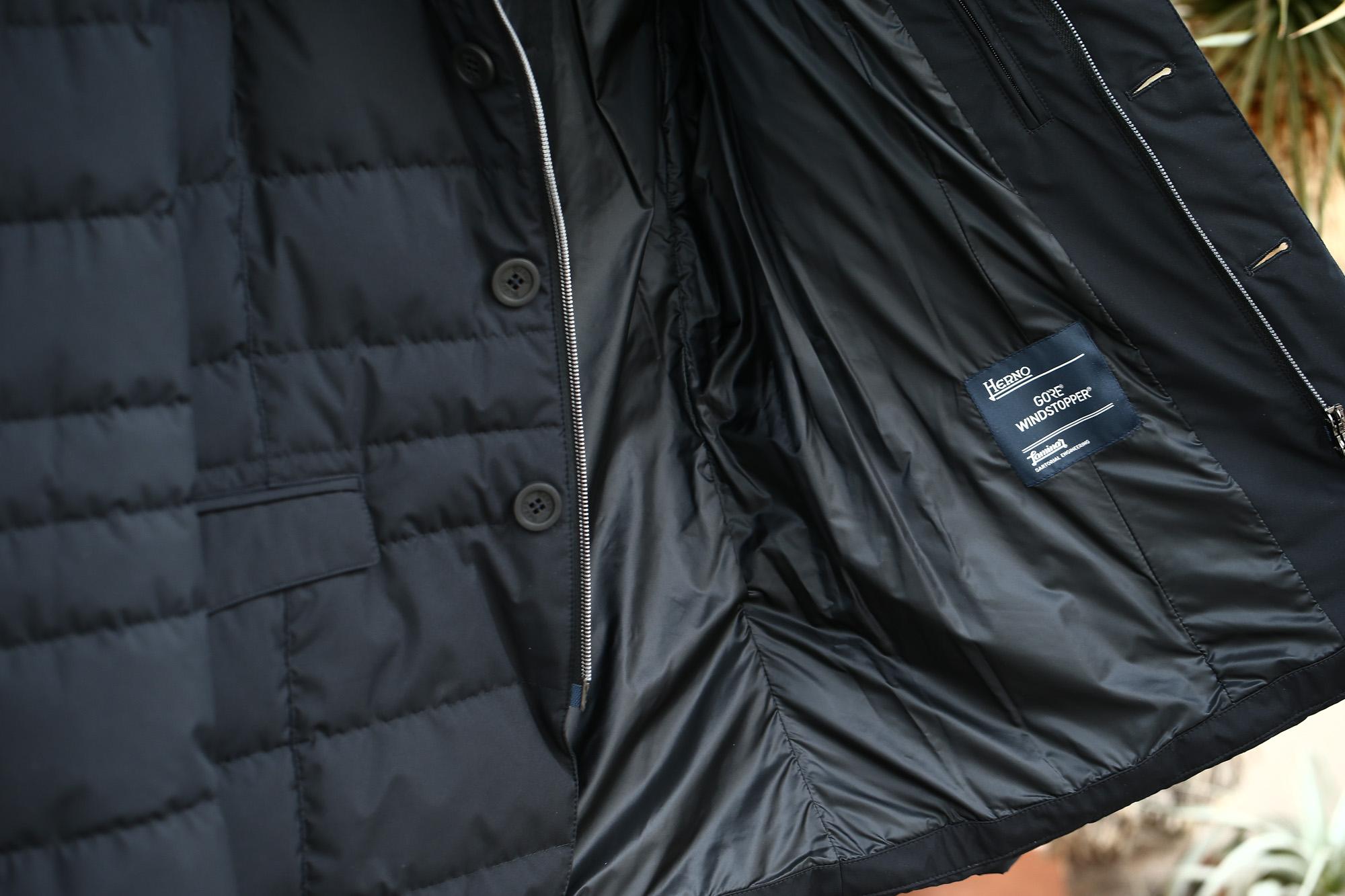HERNO(ヘルノ) PI006UL LAMINAR Down Jacket ラミナー ダウンジャケット GORE-TEX ゴアテックス GORE WINDSTOPPER ゴアウィンドストッパー ダウンジャケット BLACK (ブラック・9300) Made in italy (イタリア製) 2017 秋冬新作 愛知 名古屋 herno ヘルノ ラミナージャケット 42,44,46,48,50,52,54