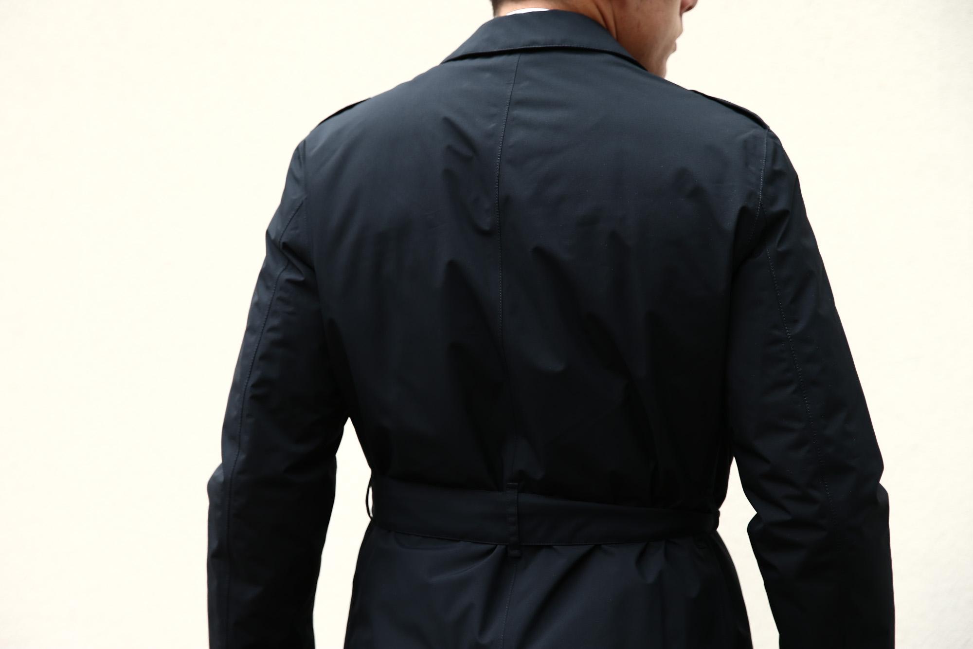【HERNO / ヘルノ】 PI077UL LAMINAR Belted coat (ラミナー ベルテッドコート) GORE-TEX (ゴアテックス) 完全防水 ステンカラー シングル ベルテッドコート BLACK (ブラック・9300) 2017 秋冬新作 愛知 名古屋 herno ヘルノ ダウンコート 42,44,46,48,50,52,54