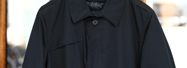 HERNO(ヘルノ) PI077UL LAMINAR Belted coat (ラミナー ベルテッドコート) GORE-TEX (ゴアテックス) 完全防水 ステンカラー シングル ベルテッドコート BLACK (ブラック・9300) 2017 秋冬新作のイメージ