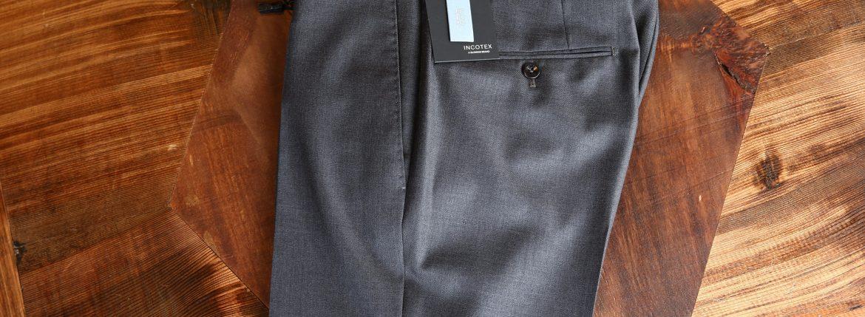 INCOTEX (インコテックス) 1NT035 SLIM FIT スリムフィット SUPER 100'S WOOLLEN TWILL サージウール スラックス MEDIUM GRAY (ミディアムグレー・920) 2017 秋冬新作のイメージ