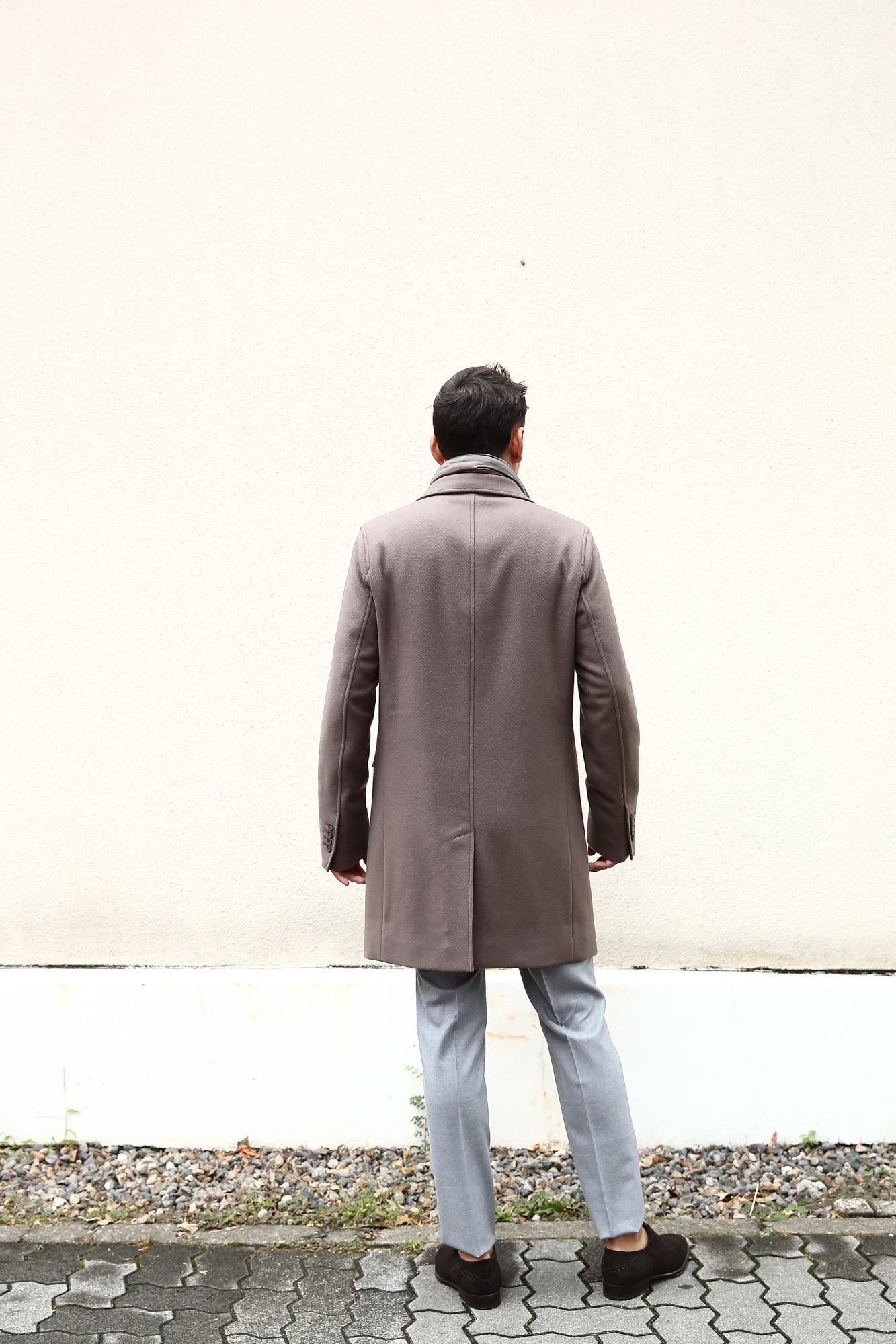 【HERNO / ヘルノ】 CA0045U Chester coat チェスターコート LANA DIAGONALE NYLON ULTRALIGHT 中綿入り ウールチェスターコート LIGHT BROWN (ライトブラウン・2700) Made in italy (イタリア製) 2017 秋冬新作 愛知 名古屋 ZODIAC ゾディアック herno ヘルノ ダウンコート ビジネススタイル