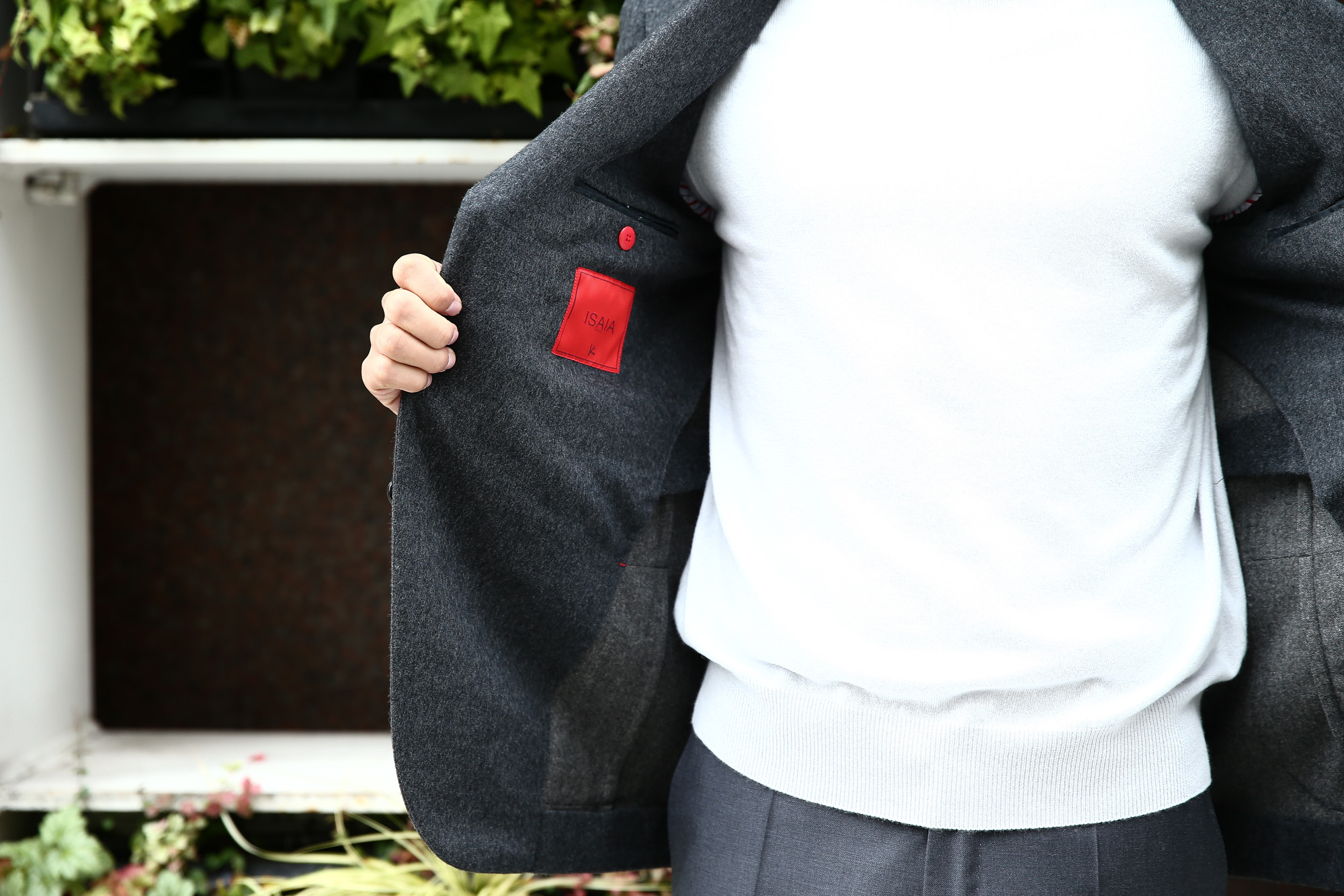 【ISAIA / イザイア】 SAILOR (セイラー) AQUA MOLESKIN ウールカシミア モールスキン フランネル アンコン 3Bジャケット MEDIUM GRAY (ミディアムグレー・970) Made in italy (イタリア製) 2017 秋冬新作 isaia 愛知 名古屋 ZODIAC ゾディアック