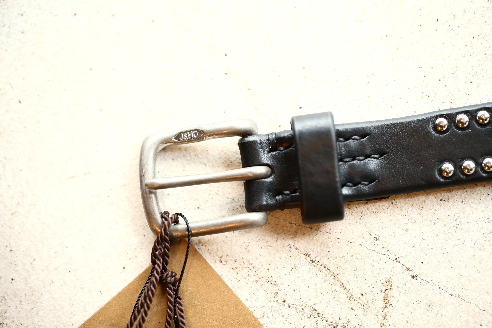 J&M DAVIDSON (ジェイアンドエムデヴィッドソン) NARROW SIDE STUDS BELT 25MM (ナロー サイド スタッズ ベルト 25mm) COWHIDE LEATHER (カウハイドレザー) スタッズベルト BLACK (ブラック・999) Made in italy (イタリア製) 2017 秋冬新作 jmdavidson jandmdavidson ジェイエム 愛知 名古屋 ZODIAC ゾディアック ベルト