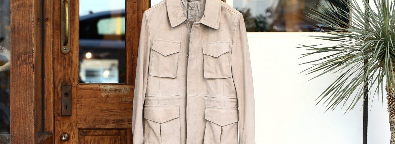 Radice (ラディーチェ) M-65 Suede Leather Jacket スエードラムナッパレザー ミリタリージャケット GRIGIO (ベージュ) MADE IN ITALY (イタリア製) 2017 秋冬新作のイメージ