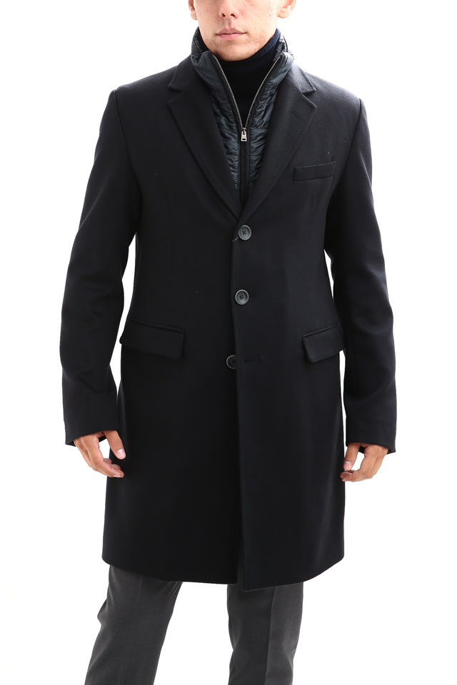 【HERNO // ヘルノ】 CA0058U Cashmere Chester coat カシミア チェスターコート PIACENZA ピアツェンツァ CASHMERE DROPGLIDE NYLON ULTRALIGHT 中綿入り カシミア チェスターコート NAVY (ネイビー・9200) Made in italy (イタリア製) 2017 秋冬新作