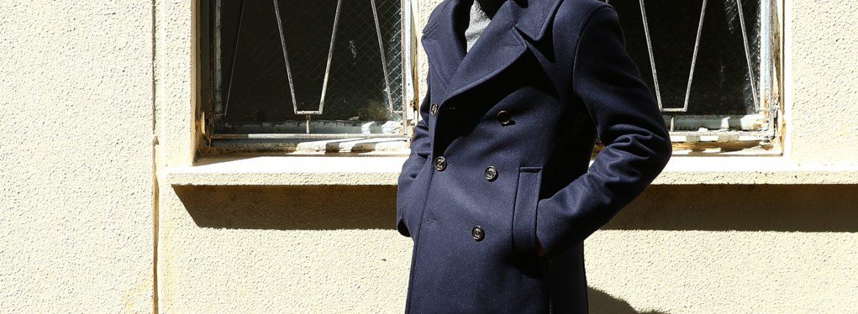 Sealup(シーラップ) 【GENOVA ///// ジェノバ】 50002 7591 01 メルトンウール サーモアライニング ロングPコート Pコート ロング ピーコート NAVY (ネイビー・01) MADE IN ITALY(イタリア製) 2017 秋冬新作のイメージ