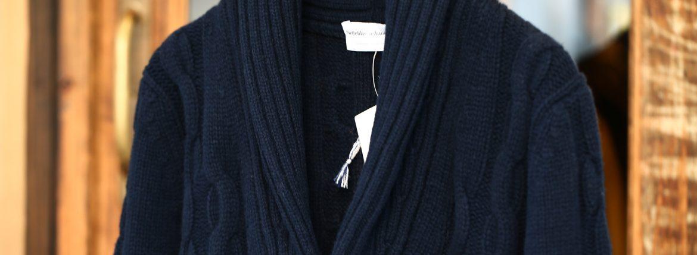 Settefili Cashmere (セッテフィーリ カシミア) Shawl Collar Cardigan (ショールカラーカーディガン) ウール カシミア ローゲージ ニット カーディガン NAVY (ネイビー・MC041) made in italy (イタリア製) 2017秋冬新作のイメージ