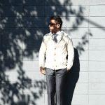 【Settefili Cashmere / セッテフィーリ カシミア】 Shawl Collar Cardigan (ショールカラーカーディガン) ウール カシミア ローゲージ ニット カーディガン OFF WHITE (オフホワイト・MC020) made in italy (イタリア製) 2017秋冬新作のイメージ