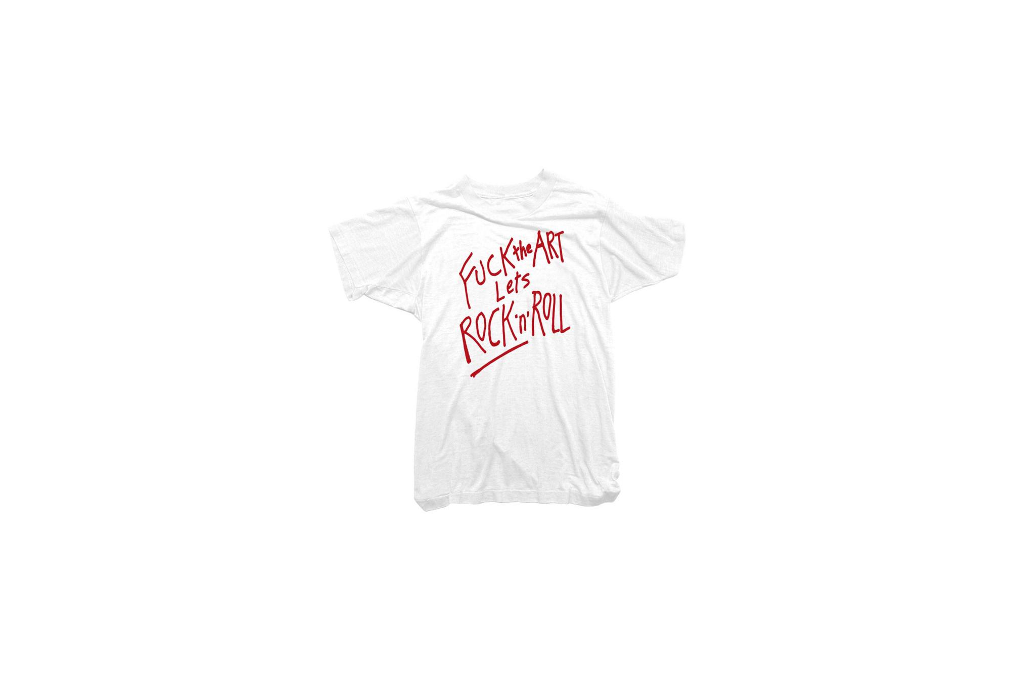 WORN FREE (ウォーンフリー) FUCK the ART Lets ROCK'n'ROLL Rod Stewart(ロッド・スチュワート) 1985 NEW YORK ロックTシャツ WHITE (ホワイト) MADE IN USA (アメリカ製) 2018春夏 wornfree ウォーンフリー 愛知 名古屋 Alto e Diritto アルト エ デリット nirvana kurtcobain bandtee rocktee