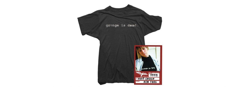 WORN FREE (ウォーンフリー) grunge is dead. Nirvana(ニルヴァーナ) Kurt Cobain(カート・コバーン) 1992 NEW YORK プリントTシャツ バンドTシャツ  ロックTシャツ BLACK(ブラック) MADE IN USA (アメリカ製) 2018春夏のイメージ