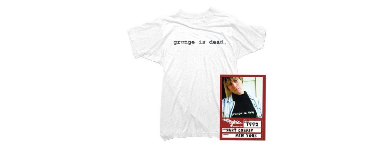 WORN FREE (ウォーンフリー) grunge is dead. Nirvana(ニルヴァーナ) Kurt Cobain(カート・コバーン) 1992 NEW YORK ロックTシャツ WHITE(ホワイト) MADE IN USA (アメリカ製) 2018春夏 wornfree ウォーンフリー 愛知 名古屋 ZODIAC ゾディアック nirvana kurtcobain bandtee rocktee