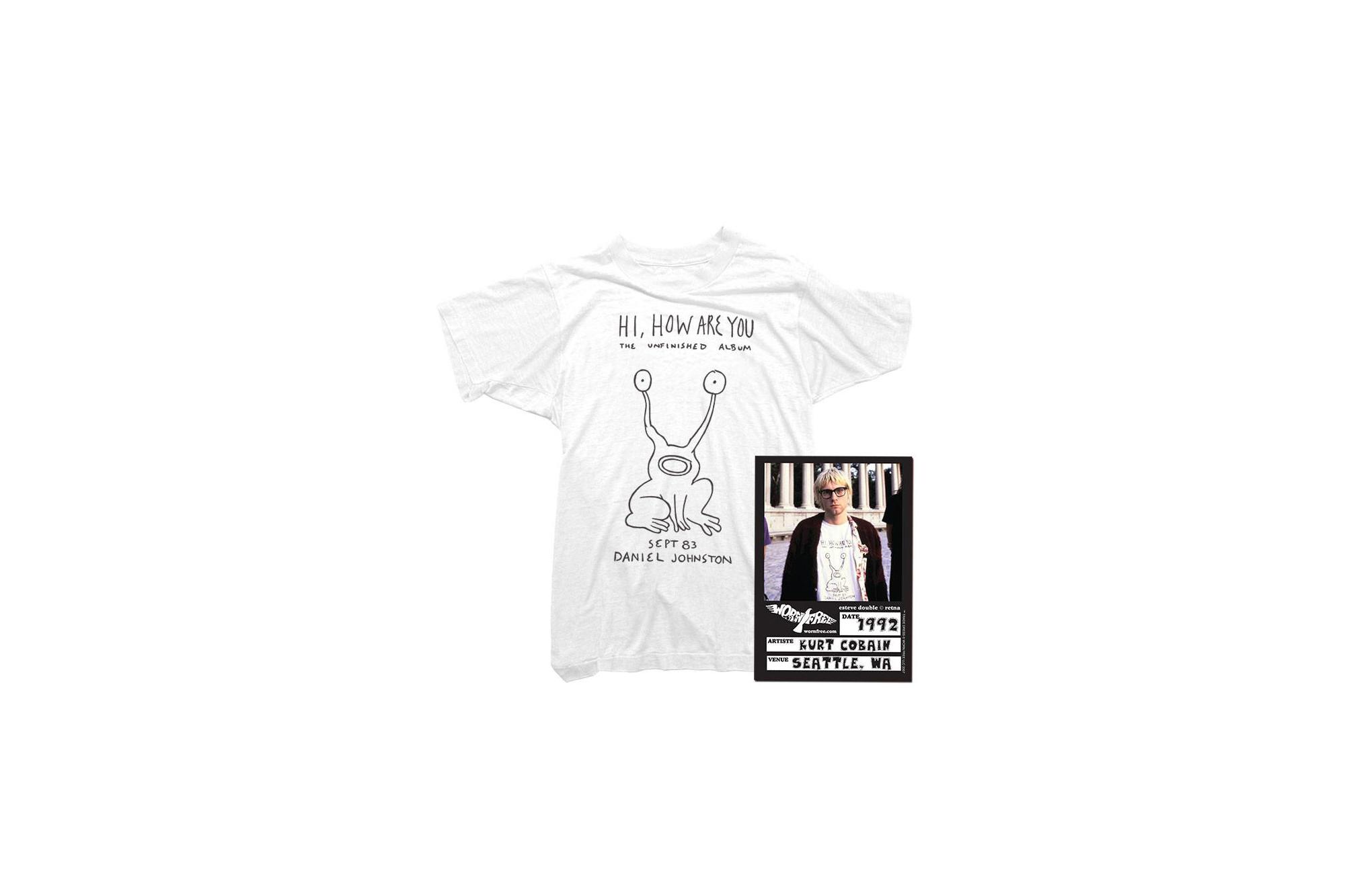 Flipper As Worn by Kurt Cobain T-Shirt 100/% Cotton Daniel Johnston Grunge