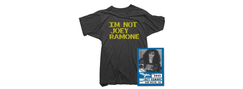 WORN FREE(ウォーンフリー) IM NOT JOEY RAMONE RAMONES(ジョーイ・ラモーン ラモーンズ) 1977 SAN DEIGO.CA プリントTシャツ バンドTシャツ ロックTシャツ BLACK(ブラック) MADE IN USA (アメリカ製) 2018春夏のイメージ