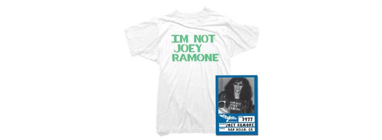 WORN FREE(ウォーンフリー) IM NOT JOEY RAMONE RAMONES(ジョーイ・ラモーン ラモーンズ) 1977 SAN DEIGO.CA プリントTシャツ バンドTシャツ ロックTシャツ WHITE(ホワイト) MADE IN USA (アメリカ製) 2018春夏のイメージ