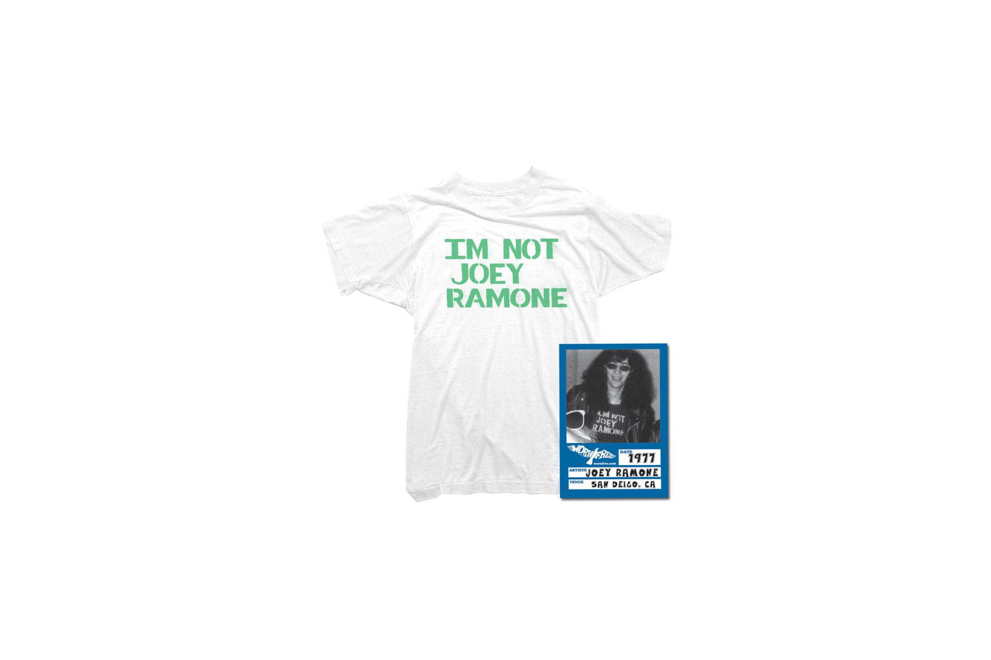 WORN FREE(ウォーンフリー) IM NOT JOEY RAMONE RAMONES(ジョーイ・ラモーン ラモーンズ) 1977 SAN DEIGO.CA プリントTシャツ バンドTシャツ ロックTシャツ WHITE(ホワイト) 2018春夏 wornfree ウォーンフリー 愛知 名古屋 ZODIAC ゾディアック ramonesラモーンズ ラモンズ bandtee rocktee