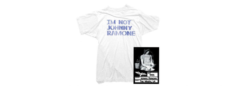WORN FREE (ウォーンフリー) IM NOT JOHNNY RAMONE RAMONES (ジョニー・ラモーン ラモーンズ) 1977 THE WHISKY.LA プリントTシャツ バンドTシャツ ロックTシャツ WHITE(ホワイト) MADE IN USA (アメリカ製) 2018春夏のイメージ