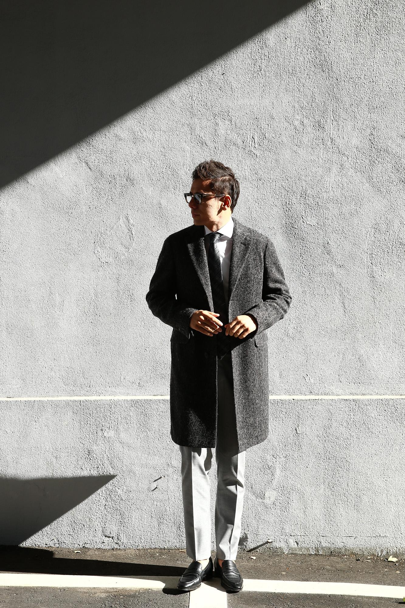 【BOGLIOLI MILANO // ボリオリ ミラノ】 CHESTER COURT (チェスターコート) ヘリンボーン ウール ツイード コート CHARCOAL (チャコール・09) Made in italy (イタリア製) 2017 秋冬新作 boglioli ボリオリ chestercourt 愛知 名古屋 Alto e Diritto アルト エ デリット