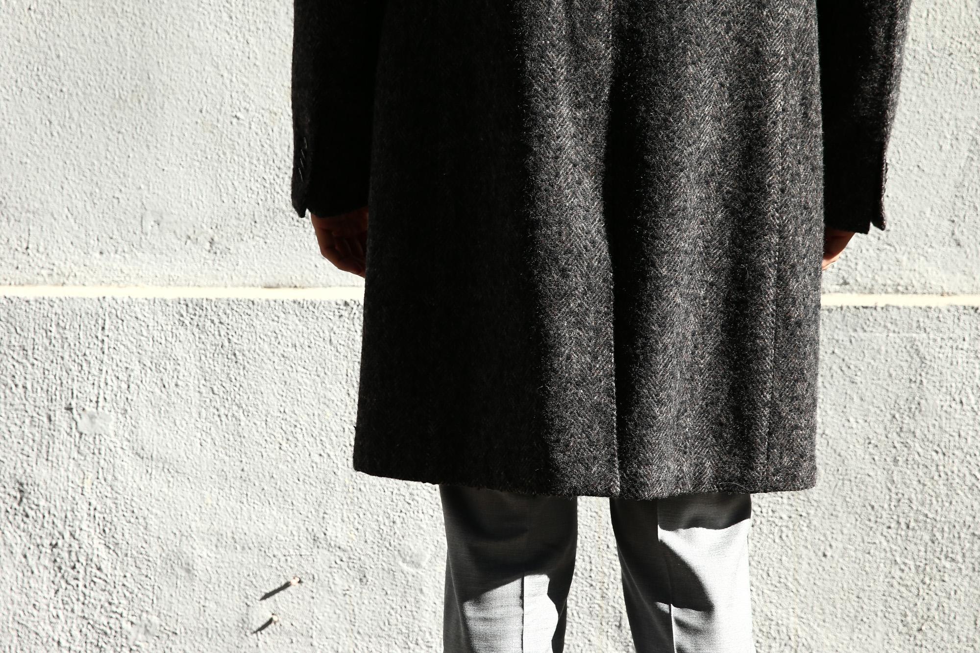 【BOGLIOLI MILANO // ボリオリ ミラノ】 CHESTER COURT (チェスターコート) ヘリンボーン ウール ツイード コート CHARCOAL (チャコール・09) Made in italy (イタリア製) 2017 秋冬新作 boglioli ボリオリ chestercourt 愛知 名古屋 ZODIAC ゾディアック