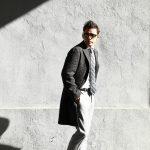 【BOGLIOLI MILANO // ボリオリ ミラノ】 CHESTER COURT (チェスターコート) ヘリンボーン ウール ツイード コート CHARCOAL (チャコール・09) Made in italy (イタリア製) 2017 秋冬新作のイメージ