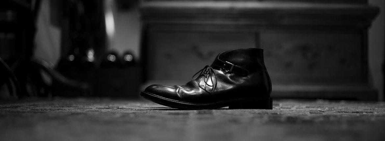 Cuervo (クエルボ) Derringer(デリンジャー) Annonay Vocalou Calf Leather アノネイ社 ボカルーカーフレザー Double Leather Sole Chukka Boots チャッカブーツ  BLACK(ブラック) MADE IN JAPAN(日本製) 【2Week 着用 Staff 私物】のイメージ