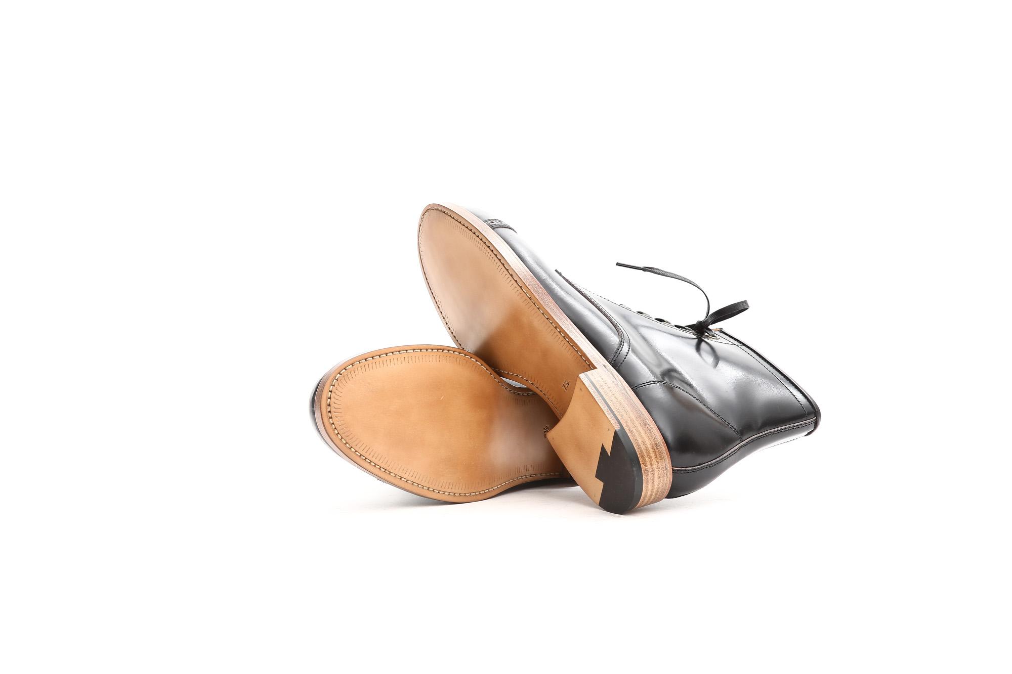 Cuervo (クエルボ) 【Romeo //// ロメオ】 CORDOVAN コードバン Double Leather Sole セミドレスブーツ レザーブーツ ドレスシューズ BLACK(ブラック) MADE IN JAPAN(日本製) 2017 秋冬新作 cuervoクエルボ ブーツ 愛知 名古屋 ZODIAC ゾディアック 5.5,6,6.5,7,7.5,8,8.5,9,9.5