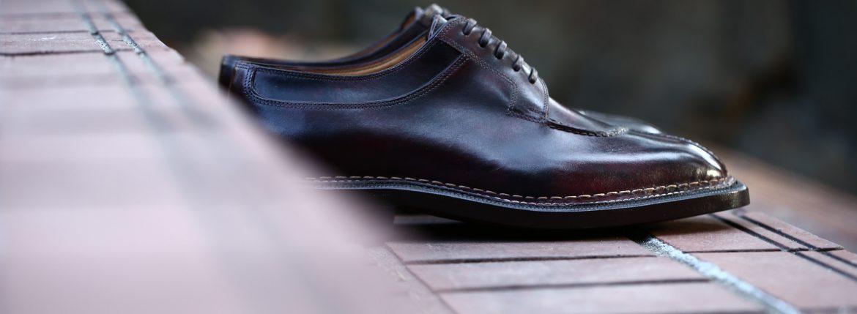 ENZO BONAFE(エンツォボナフェ) 【BERING /// ベーリング】 Bonaudo Museum Calf Leather(ボナウド社ミュージアムカーフレザー) ノルベジェーゼ製法 Uチップシューズ レザーシューズ PLUM(バーガンディー) made in italy(イタリア製) 2017 秋冬新作のイメージ
