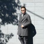 HERNO(ヘルノ) 【CA0045U】 Chester coat チェスターコート LANA DIAGONALE NYLON ULTRALIGHT 中綿入り ウールチェスターコート GRAY (グレー・9450) Made in italy (イタリア製) 2017 秋冬新作のイメージ