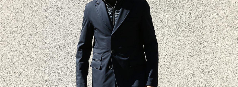 HERNO(ヘルノ) 【CA0057U】 Chester coat チェスターコート LoroPiana ロロピアーナ STORM SYSTEM WOOL HERNO TECH 中綿入り ウール チェスターコート NAVY (ネイビー・9290) Made in italy (イタリア製) 2017 秋冬新作のイメージ