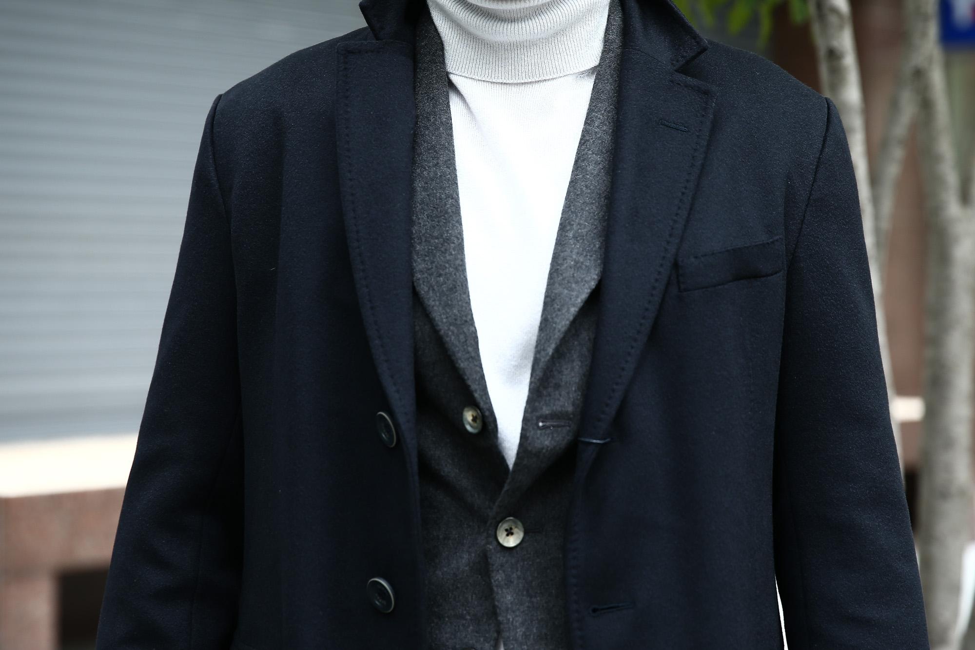 【HERNO // ヘルノ】 CA0058U Cashmere Chester coat カシミア チェスターコート PIACENZA ピアツェンツァ CASHMERE DROPGLIDE NYLON ULTRALIGHT 中綿入り カシミア チェスターコート NAVY (ネイビー・9200) Made in italy (イタリア製) 2017 秋冬新作 愛知 名古屋 ZODIAC ゾディアック herno ヘルノ ダウンコート ビジネススタイル