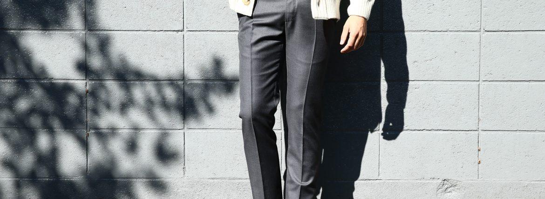 【INCOTEX // インコテックス】 1NT035 SLIM FIT スリムフィット SUPER 100'S WOOLLEN TWILL サージウール スラックス MEDIUM GRAY (ミディアムグレー・920) 2017 秋冬新作のイメージ