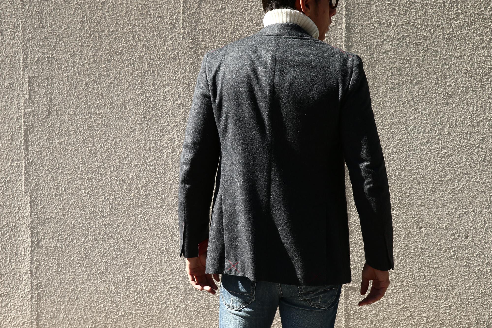 【ISAIA // イザイア】 SAILOR (セイラー) AQUA MOLESKIN ウールカシミア モールスキン フランネル アンコン 3Bジャケット MEDIUM GRAY (ミディアムグレー・970) Made in italy (イタリア製) 2017 秋冬新作 isaia 愛知 名古屋 Alto e Diritto アルト エ デリット
