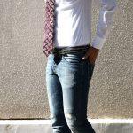 【J&M DAVIDSON / ジェイアンドエムデヴィッドソン】 NARROW SIDE STUDS BELT 25MM (ナロー サイド スタッズ ベルト 25mm) COWHIDE LEATHER (カウハイドレザー) スタッズベルト BLACK (ブラック・999) Made in italy (イタリア製) 2017 秋冬新作のイメージ