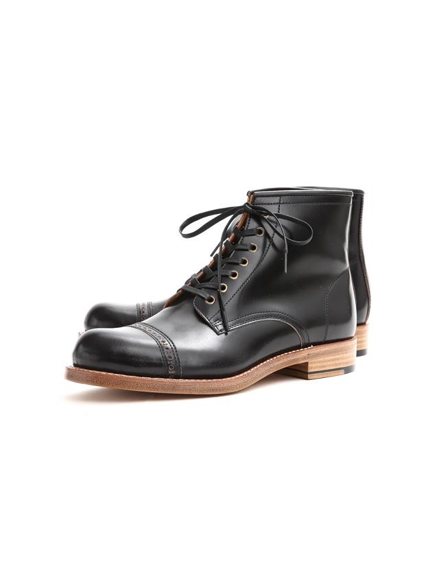 Cuervo (クエルボ) 【Romeo //// ロメオ】 CORDOVAN コードバン Double Leather Sole セミドレスブーツ レザーブーツ ドレスシューズ BLACK(ブラック) MADE IN JAPAN(日本製) 2017 秋冬新作